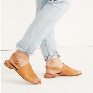 Madewell The Noelle Slingback Sandal Leather